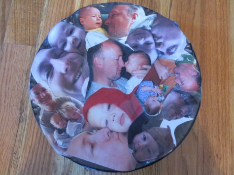 Our old nanny, AK Mullen, made this plate for Lonny. She also gave us an album with these pictures. It was so thoughtful but I need more space. It was 100% appreciated and valued.