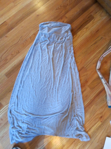 Fun strapless maxi dress.