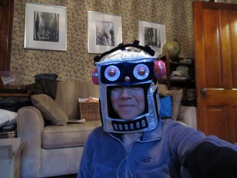 Soft robot helmet for kids.