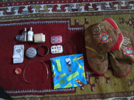 Items from the corner of my dresser, or underneath.