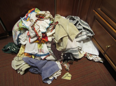 Most of this came out of that bottom drawer which is not empty, but can close without a shoehorn.