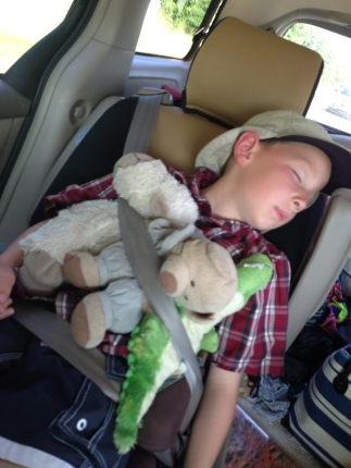 I realize I post lots of pictures of my kids while they are asleep, but they are cuter that way.