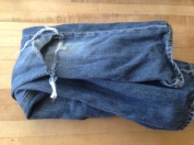 Destroyed kids jeans. TRASH.