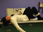 I relaxed on the exam table, much to Testy's horror