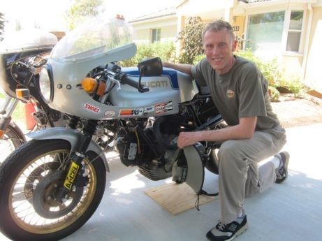 My dad and a great love of his life, his Ducati. Looking good Dad!