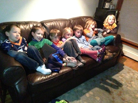 The kids watched a movie in the other room. I'm sure that was more entertaining, too.