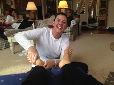After she massaged my feet, PFC showed me the most disturbing video ever. Half the Betties had to leave the room.