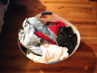 I cleared out the small winter clothes and am giving them to Harmy.