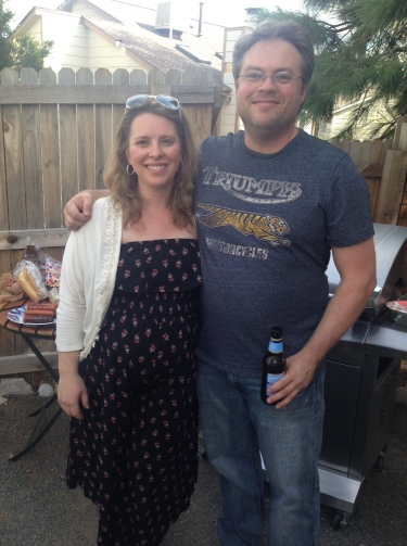 They are going to be the best parents ever. The party was on the 4th so they had a May The Forth Be With You shower complete with Bantha Milk and Light Sabers.