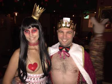 This guy who is married to her is not allowed to touch her boobies ... at the party.