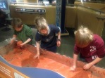 Studying currents, or throwing sand