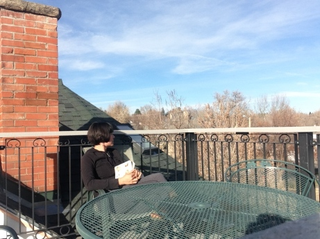 Me on the roof. I never go up there except to clean it up for my next guest. I can see why people pay the big bucks to rent it.