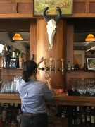 Local beer on tap