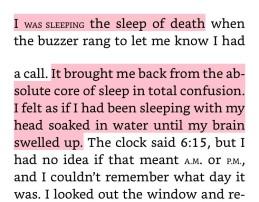 """From """"Norewegian Wood"""" describing sleep of the dead"""