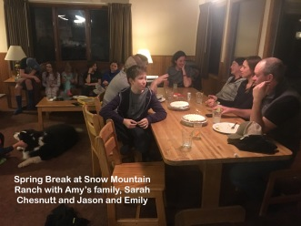 """Four families shared two cabins. Ours was the """"party"""" cabin."""